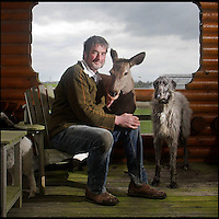 BNPS.co.uk (01202 558833)<br /> Pic: DavidFitzgerald/BNPS<br /> <br /> Kenny with roe deer Yanna and his Irish wolfhound-deerhound cross Murphy.<br /> <br /> Supplying farm animals to TV and film crews, including the huge hit series Game of Thrones, has saved Kenny Gracey's bacon.<br /> <br /> The 57-year-old farmer started supplying pigs, cows, donkeys, goats and even a trained deer to Hollywood seven years ago, when the recession was hitting his business hard.<br /> <br /> Mr Gracey said the film work his animals get has helped him pay the bills and keep his business going.<br /> <br /> Forthill Farm in Tandragee, Northern Ireland, specialises in traditional breeds like Longhorn cattle and Gloucestershire old spot pigs, ideal for shows and films set in medieval times.