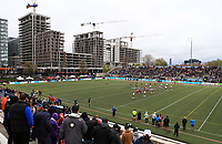 TORONTO, ON - MAY 06:  A general view of Lamport Stadium as Toronto Wolfpack play their first ever home game in the Kingstone Press League 1 against Oxford RLFC on May 6, 2017 in Toronto, Canada.  (Photo by Vaughn Ridley/SWpix.com)