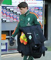 FUSSBALL   1. BUNDESLIGA   SAISON 2011/2012    20. SPIELTAG  05.02.2012 SC Freiburg - SV Werder Bremen Sebastian Boenisch (SV Werder Bremen)