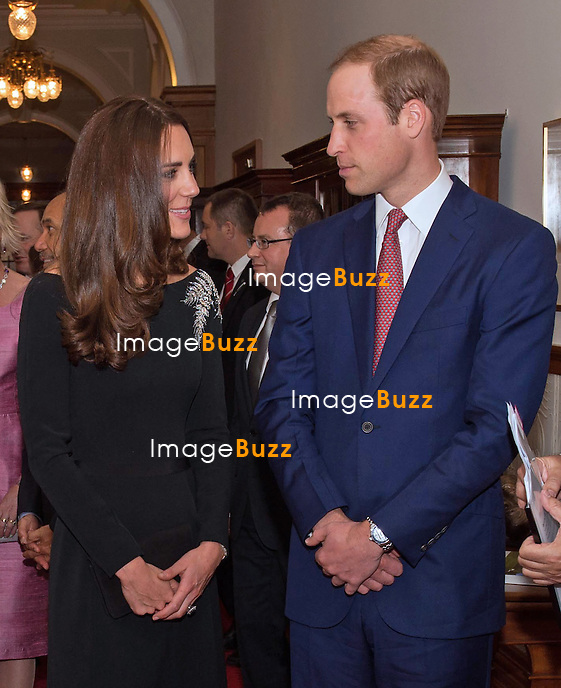 KATE, DUCHESS OF CAMBRIDGE AND PRINCE WILLIAM<br /> attend hosted a State Reception hosted by the Governor General of New Zealand at Government House, Wellington.<br /> The Duke and Duchess of Cambridge unveiled a new portrait of HM The Queen during the reception _10/04/2014