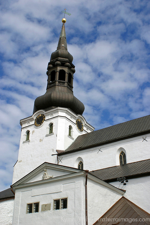 Europe, Estonia,Tallinn. Church steeple in Tallinn.