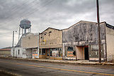 Ghost Town, Oklahoma, Old buildings, Picher, Ruins, United States, Water Tower, Winter