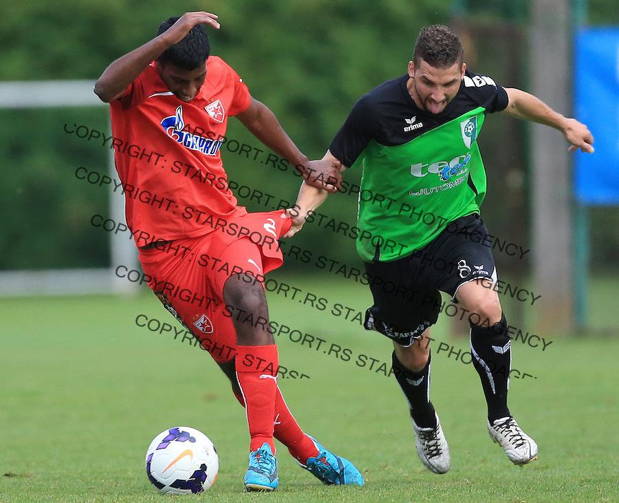 Fudbal season 2013-2014<br /> FK Crvena Zvezda pripreme<br /> Prijateljski mec<br /> Crvena Zvezda v Verzej<br /> Miguel Araujo (L)<br /> Brezice, 07.09.2014.<br /> foto: Srdjan Stevanovic/Starsportphoto &copy;
