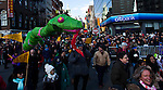 New York, United States. 17th February 2013 -- Chinese and Americans take part of the lunar new year of the snake during celebrations of the Chinese new year in New York. Photo by Eduardo Munoz Alvarez / VIEWpress.