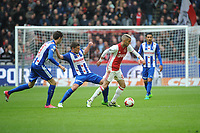 VOETBAL: AMSTERDAM: 16-04-2017, AJAX - SC Heerenveen, uitslag 5 - 1, Hakim Ziyech in duel met Stijn Schaars, ©foto Martin de Jong