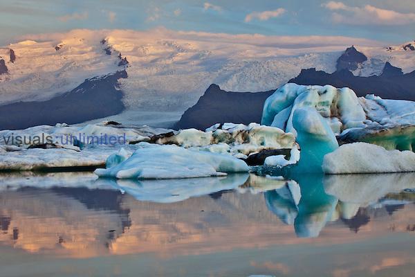 Glacier Lagoon at sunrise, Iceland