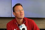 12 December 2015: Stanford Brian Nana-Sinkam. The NCAA held a press conference at Three Points at the Sporting Kansas City offices one day before the Clemson University Tigers play the Stanford University Cardinal in a 2015 NCAA Division I Men's College Cup championship match.
