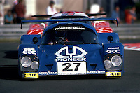 LE MANS, FRANCE - JUNE 20: Mario and Michael Andretti were scheduled to drive this Mirage M12 01/Ford in the 24 Hours of Le Mans on June 20, 1982, but the car was disqualified on a technical infraction immediately prior to the start of the race.