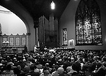 Pittsburgh PA:  View of Sunday Services at the First English Evangelical Lutheran Church in Pittsburgh 1958.
