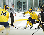 The University of Michigan ice hockey team beat Western Michigan University, 2-0, at Yost Ice Arena in Ann Arbor, Mich., on December 15, 2012.