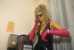 Sigue Sigue Sputnik. Punk band 1980s Bed and Breakfast hotel Newcastle Upon Tyne. UK. Back stage crew member.