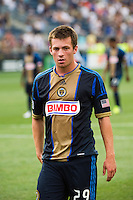 Antoine Hoppenot (29) of the Philadelphia Union. The Philadelphia Union defeated Toronto FC 3-0 during a Major League Soccer (MLS) match at PPL Park in Chester, PA, on July 8, 2012.