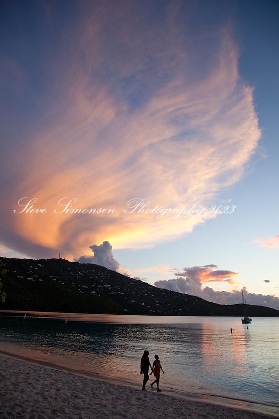 Sunset at Magen's Bay.<br /> St. Thomas.US Virgin Islands