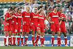 27 August 2011: Western New York's players during the penalty shootout. Western New York Flash defeated the Philadelphia Independence 5-4 on penalty kicks to win the final after the game ended in a 1-1 tie after overtime at Sahlen's Stadium in Rochester, New York in the Women's Professional Soccer championship game.