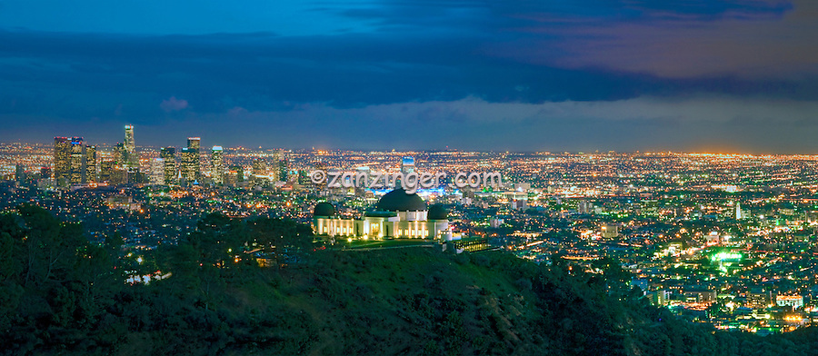 Griffith Obseratory; L.A. Skyline; los angeles CA; Cityscape, Night