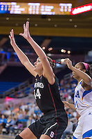 LOS ANGELES, CA - February 17, 2013:  Stanford's Joslyn Tinkle during Stanford's game against UCLA at Pauley Pavilon.  Stanford won, 68-57.