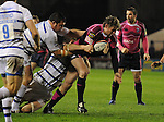 Jamie Robinson charges through the Bath defence. Cardiff Blues V Bath, EDF Energy Cup. &copy; Ian Cook IJC Photography iancook@ijcphotography.co.uk www.ijcphotography.co.uk