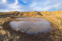 Waterhole in the McCullough Peaks area of the Bighorn Basin in Wyoming