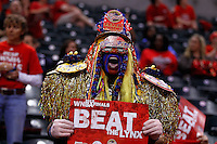 INDIANAPOLIS, IN - OCTOBER 21: An Indiana Fever fan cheers before the game against the Minnesota Lynx before Game Four of the 2012 WNBA Finals on October 21, 2012 at Bankers Life Fieldhouse in Indianapolis, Indiana. NOTE TO USER: User expressly acknowledges and agrees that, by downloading and or using this Photograph, user is consenting to the terms and conditions of the Getty Images License Agreement. (Photo by Michael Hickey/Getty Images)