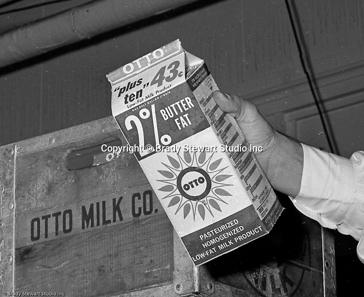 Pittsburgh PA:  On location photography at Otto Dairy loading dock - 1965.  Assignment for Ketchum McLeod and Grove Advertising