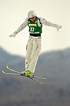16 January 2005 - Lake Placid, New York, USA - Jill Priest representing the USA, competes in the FIS World Cup Ladies' Aerial acrobatic competition, ranking 26th for the day, at the MacKenzie-Intervale Ski Jumping Complex, in Lake Placid, NY. ..Mandatory Credit: Ed Wolfstein Photo.
