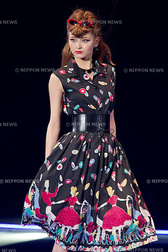 March 3, 2012, Yokohama, Japan - Japanese model XXX walks down the catwalk wearing XXX during the Tokyo Girls Collection fashion show. This 14th Tokyo Girls Collection features XXX. (Photo by Christopher Jue/Nippon News)