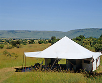 Based on original 1920s style Cottar's mobile camps, the tents have views over the sweeping African plains