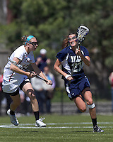 Yale University midfielder Christina Doherty (27). Boston College defeated Yale University, 16-5, at Newton Campus Field, April 28, 2012.