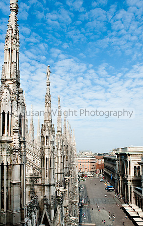 Details of Il Duomo, Milan, Italy