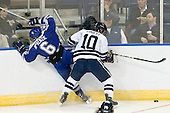 Adam McKenzie (Air Force - 6), Kevin Limbert (Yale - 10) - The Yale University Bulldogs defeated the Air Force Academy Falcons 2-1 (OT) in their East Regional Semi-Final matchup on Friday, March 25, 2011, at Webster Bank Arena at Harbor Yard in Bridgeport, Connecticut.