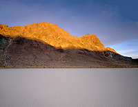 "CADDV 024 -   Sunrise on Ubehebe Peak above dry lakebed or playa called  ""Racetrack"", Racetrack Valley, Death Valley National Park, California, USA --- (4x5 inch original, File size: 6057x4800, 83.2mb uncompressed)"