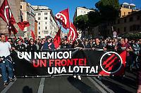 Roma  15 Ottobre 2011.Manifestazione contro la crisi e l'austerità..
