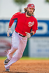 9 March 2013: Washington Nationals outfielder Jayson Werth in action during a Spring Training game against the Miami Marlins at Space Coast Stadium in Viera, Florida. The Nationals edged out the Marlins 8-7 in Grapefruit League play. Mandatory Credit: Ed Wolfstein Photo *** RAW (NEF) Image File Available ***