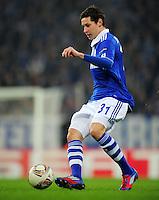 FUSSBALL   EUROPA LEAGUE   SAISON 2011/2012  ACHTELFINALE FC Schalke 04 - Twente Enschede                         15.03.2012 Julian Draxler (FC Schalke 04) Einzelaktion am Ball