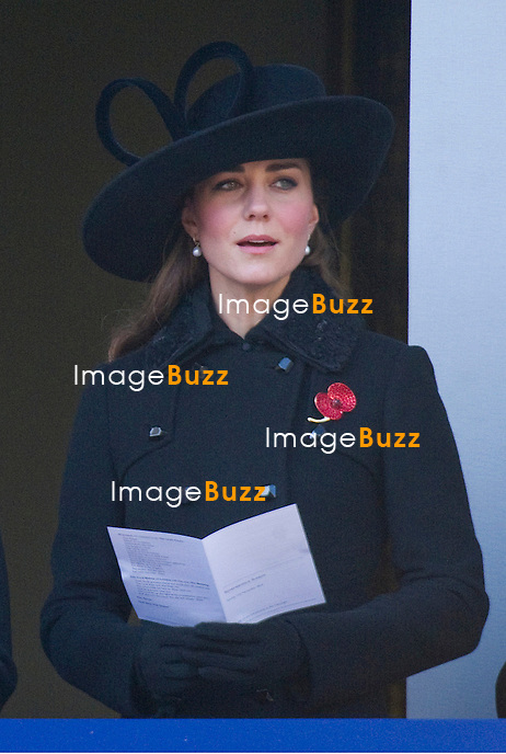 CATHERINE, DUCHESS OF CAMBRIDGE ATTENDS REMEMBRANCE SERVICE.Kate joined other Royal Ladies for the annual the Remembrance Service at the Cenotaph, London_11th November 2012.Royals present included The Queen, Duke of Edinburgh, Prince William, Kate, Princess Anne, Prince Andrew, Prince Edward, Sophie Wessex, Princess Beatrice, Princess Eugenie and the Duke of Kent..Prince Charles and Camilla were absent as they were on tour in New Zealand, while Prince Harry is serving in Afghanistan.