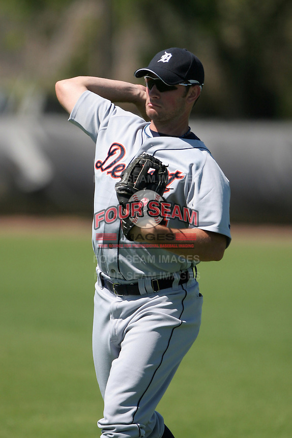 Detroit Tigers minor leaguer Casper Wells during Spring Training at the Chain of Lakes Complex on March 17, 2007 in Winter Haven, Florida.  (Mike Janes/Four Seam Images)