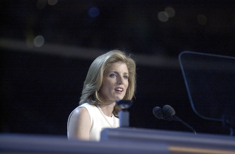 DNCconvention60(DG)081500 -- Caroline Kennedy Schlossberg during her speech at the Staples Center in Los Angeles California.