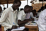Mcc0075406 . Daily Telegraph<br /> <br /> DT Foreign<br /> <br /> <br /> A classroom supported by UNICEF .<br /> <br /> POC 3 , the Protection of Civilian Camp inside the vast UN compound on the outskirts of Juba . Over 20,000 civilians who predominantly fled from conflict in the equatorial states of South Sudan . United Nation's agencies recently announced a famine in the war torn country .<br /> <br /> Juba 27 February 2017