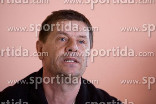 Coach Borut Klinec at press conference of PK Ilirija, on March 18, 2009, at Swimming pool Ilirija, Ljubljana, Slovenia. (Photo by Vid Ponikvar / Sportida)