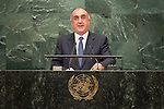Azerbaijan<br /> H.E. Mr. H.E. Elmar Maharram oglu Mammadyarov<br /> Minister for Foreign Affairs<br /> <br /> General Assembly Seventy-first session, 17th plenary meeting<br /> General Debate