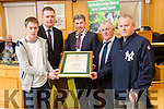 At the  Tralee Municipal District annual awards ceremony  on Friday,  in the Council chambers Presented by Kerry Mayor Michael O'Shea to Kerry Minor Hurling team  l-r Shane Conway, Tim Murphy, Joe McCarthy and John Hennessy