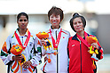 (L to R) Sudha Singh (IND), Minori Hayakari (JPN), Thi Phuong Nguyen (VIE),..JULY 10, 2011 - Athletics :The 19th Asian Athletics Championships Hyogo/Kobe, Women's 3000mSC Final at Kobe Sports Park Stadium, Hyogo ,Japan. (Photo by Jun Tsukida/AFLO SPORT) [0003]