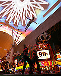 Sandou Circus school performs at Fremont Street Experience 1st Street stage in Las Vegas, Nevada, Monday July 30, 2007.  Photographer: Larry Burton/UnitedPressImaging.com  .