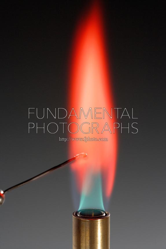 STRONTIUM FLAME TEST  Sr NO3 2  Crimson Flame Shows Presence Of    Strontium Flame