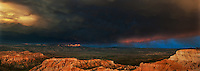 904000032 panoramic view of great cloud formations during a monsoon summer thunderstorm in bryce canyon national park utah united states