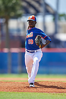 New York Mets pitcher Justin Dunn (19) during an Instructional League game against the Miami Marlins on September 29, 2016 at the Port St. Lucie Training Complex in Port St. Lucie, Florida.  (Mike Janes/Four Seam Images)
