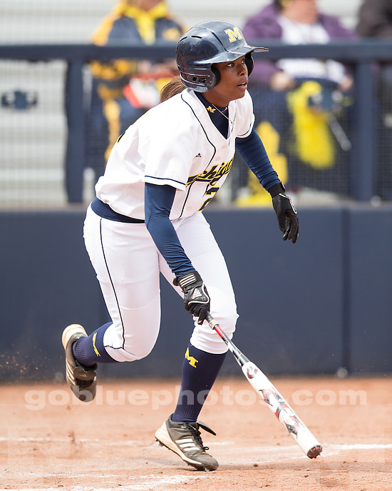 The University of Michigan softball team beat Ohio State, 17-5 in 5 innings, at the Wilpon Complex in Ann Arbor, Mich., on April 7, 2013.