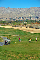 Desert Dunes Golf Course  Gollfers Teeing Off