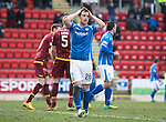 St Johnstone v Motherwell&hellip;20.02.16   SPFL   McDiarmid Park, Perth<br />Liam Craig reacts to his missed chance<br />Picture by Graeme Hart.<br />Copyright Perthshire Picture Agency<br />Tel: 01738 623350  Mobile: 07990 594431