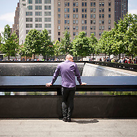 Visitors at the 9/11 Memorial in New York for HS